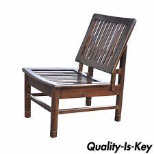 Vintage Mid Century Modern Slat Back Slipper Lounge Chair Wormley Dunbar Style