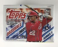 2021 Topps Series 1 Baseball Factory Sealed Blaster Box - 7 Packs Plus + Patch