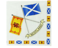 Scottish Napkins, Crossed Scottish Flags and explanations of each flag