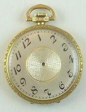 Antique 12 Size Gold-Filled Pocket Watch Case & Silver-Tone Dial