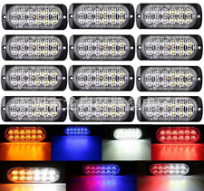 Amber 12 LED Car Truck Emergency Beacon Warning Hazard Flash Strobe Light Bars