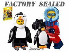 LEGO 71013 Minifigures Series 16 Penguin Boy Wildlife Photographer LOT packs bag