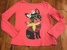 GAP KIDS Girl's Pink Dog Appliqué T Shirt- Size Medium 8- Retails $28