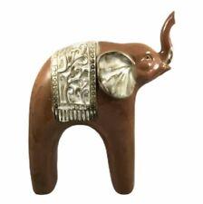 "Orange Ceramic Elephant Home Decor Figurine 10 1/2"""