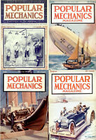 POPULAR MECHANICS MAGAZINE - 125 OLD RARE ISSUES - YEARS (1905-1917) ON ONE DVD
