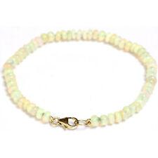 Ethiopian Fire Opal 4mm bead bracelet / Anklet 14k Yellow gold