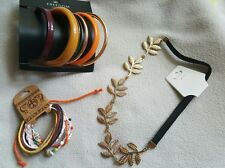 New TOPSHOP bangles set + summer tribal shell bracelet + gold leaf headband