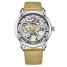Stuhrling 3982 1 Winchester Automatic Skeleton Beige Leather Womens Watch