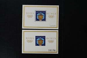 Costa Rica #c313 1960 Olympic perf + imperf s/s VF MNH (v439)