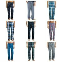 Stafford Men's Lounge Pant S or L Pajama Sleep Pants, Plaid, Lobsters or Boats
