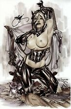 EBAS NAUGHTY CATWOMAN ART PRINT - SIGNED - VERY HOT  11X17