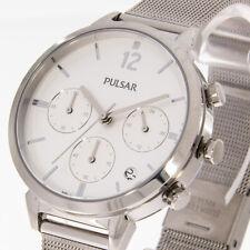 Púlsar fantastico pt3943x1 chronograph color plata milanaiseband meshband Chrono