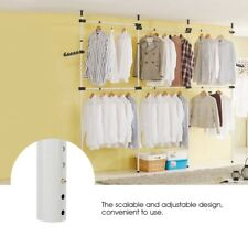 Closet System Storage Organizer Garment Rack Clothes Hanger Dry 4 Poles 6 Bars
