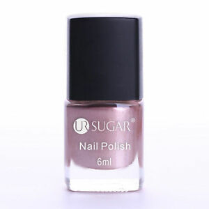 Nail Polish Pink Metallic Mirror Effect Nail Art Metal Polish Varnish DIY 6ml