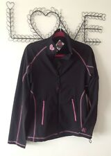 JACKET - BLACK Size LARGE 16 BNWT Sportswear Fitness Running Gym Warmup