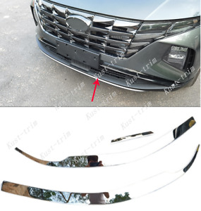 For Hyundai Tucson 2022-2023 stainless steel strip Front bumper bright trim 3PCS
