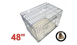 Ellie-Bo Deluxe XXL Dog Cage in Silver 48inch