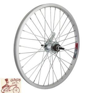 "WHEELMASTER  COASTER BRAKE 20"" x 1.75""  SILVER BICYCLE REAR WHEEL"