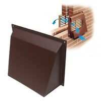 "Brown Hooded Cowl 9"" x 9"" Vent Cover for Air Bricks Grilles Extractors Vents"