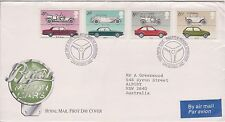 (OK-80) 1982 GB FDC 4stamps British motor cars royal mail used