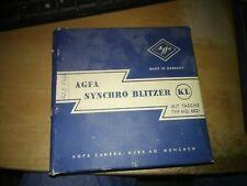 1958 AGFA Synchro-Blitzer (Flash Gun) in original box w/ instructions & Receipt