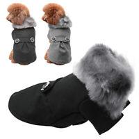 Luxury Dog Winter Clothes Woolen Pet Warm Jacket Small Medium Dogs Jacket Yorkie