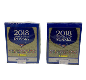 2018 Panini Russia FIFA World Cup Soccer Stickers  2 Boxes 100 Packs