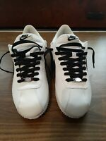 Nike Cortez mens size 8.5 Leather White/Black (819719 100) pre owned