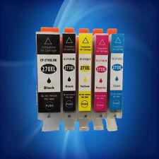 5PK Ink PGI-270XL + CLI-271XL BK/C/Y/M Combo For Canon Pixma MG5720 MG5722 M6820