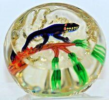 LARGE Incredible WILLIAM MANSON Exotic SALAMANDER Studio Art Glass PAPERWEIGHT