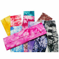 Fashion Women Tie Dye Non-Slip Elastic Sweatband Headband Sports Yoga Hairband