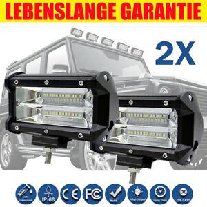 """LED Fernscheinwerfer Fernlicht 5"""" LED Zusatzscheinwerfer Straßenzulassung DE"""