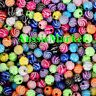 50 x loose spacer twist beads glitter mixed colours girls childrens craft 8mm