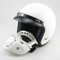 Vintage 3/4 Open Face Motorcycle Off Road Helmet Sun Shield M/L/XL Mask Goggles