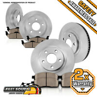 For Forester Impreza Legacy Outback Front + Rear Brake Rotors & Ceramic Pads