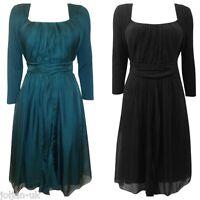 NEW LADIES  JIGSAW WASHED SILK JERSEY TOP TEA  DRESS BLACK - GREEN SIZE S M L