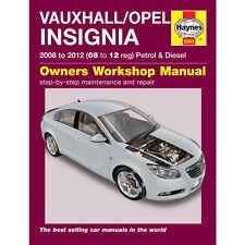 Vauxhall/Opel Insignia Haynes Manual 2008-12 1.8 Petrol 2.0 TD Workshop Manual
