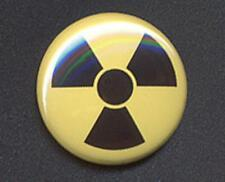 RADIOACTIVE Badge Button Pin  - CAUTION!