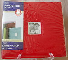Generations Scrapbook Memory Album 12x12 Faux Red Leather 20 Page Screw Post NEW
