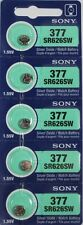5 NEW SONY 377 SR626SW V377 SR66 watch batteries