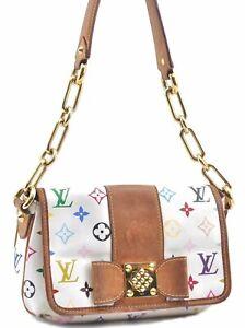Auth Louis Vuitton Monogram Multicolor Patty Shoulder Bag White M40305 LV D0675