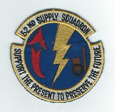 70's 52nd SUPPLY SQUADRON(GERMAN MADE)  patch