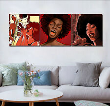 Afro African American Singer Canvas Print Art Oil Painting Wall Decor No Frame