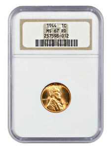 1944 1c NGC MS67 RD - Gorgeous! - Lincoln Cent - Gorgeous!