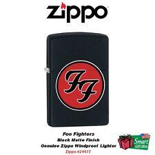 Zippo Foo Fighters Logo Lighter, Black Matte Finish, Windproof #29477