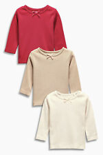 ВNWT NEXT Tunic Blouse T-Shirts • Red Pointelle Tops 3pk • 100% cotton •3-6 mons