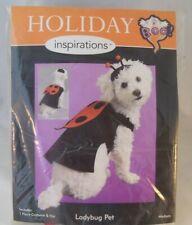 "Halloween Ladybug Pet Costume with Hat Dog Medium Size 14"" to 18"" MIP"