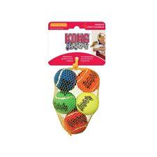 Kong SqueakAir Tennis Ball Dog Toy - Multicolor - XS - 5ct