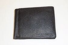 NEW-FOSSIL COLLIN INT BIFOLD BLACK PEBBLED LEATHER MEN'S WALLET,COIN PURSE