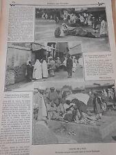1906 Inde Dans les Rues de Peschaver Un Barbier Un Boucher
